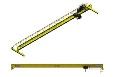 Top Running Single Girder Overhead Crane, Structural Construction, Single Hoist (drawing)